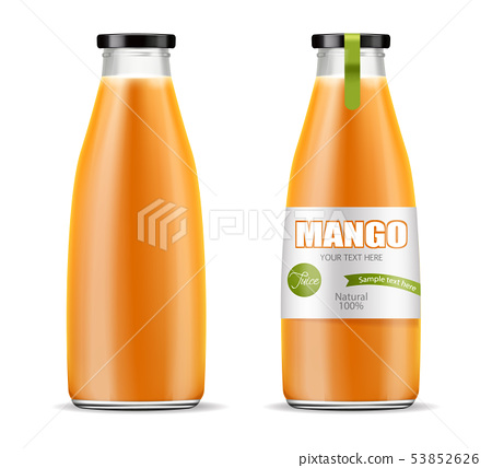 Mango juice Vector realistic. Product placement 53852626