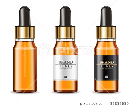 Serum cosmetics bottles Vector realistic. Product 53852659