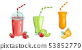 Cocktail drinks set Vector isolated. Fresh juicy 53852779