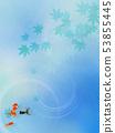 Background-Japanese-Japanese style-Japanese pattern-Japanese paper-Goldfish-Autumn leaves-Summer-Festival-Light blue 53855445