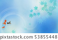Background-Japanese-Japanese style-Japanese pattern-Japanese paper-Goldfish-Autumn leaves-Summer-Festival-Light blue 53855448