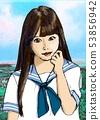 high school girl 53856942
