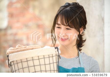 家庭主妇家务洗涤 53859679