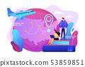 Educational tourism concept vector illustration 53859851