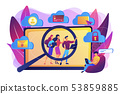 Digital ethics and privacy concept vector illustration 53859885