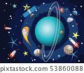 Uranus Planet in the Space 53860088