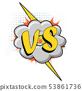 Versus VS letters comics style 53861736