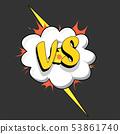 Versus VS letters comics style 53861740