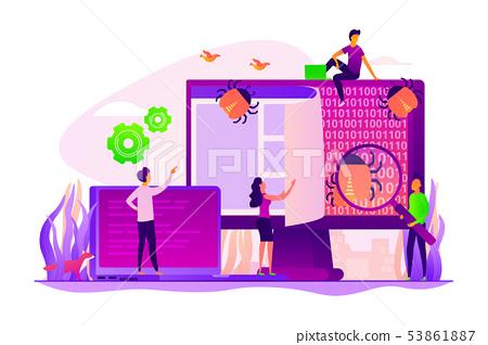Software testing concept vector illustration 53861887