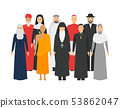 Cartoon Characters Religion People Different Types Crowd. Vector 53862047