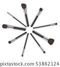 Realistic Detailed 3d Makeup Tools Circle Set. Vector 53862124