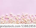 Fresh popcorn on pink background 53862856