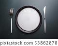Empty white plate 53862878