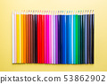 Pencils of various colors 53862902