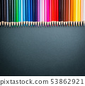 Pencils of various colors 53862921