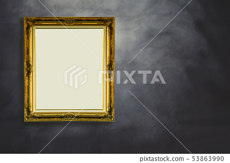 Vintage picture frame on back background. 53863990