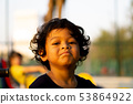 Close Up portrait of Asian boy toothache emotion, 53864922