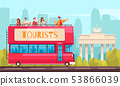 Sightseeing Bus Excursion Composition 53866039