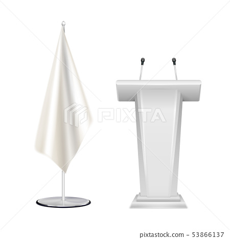 Tribune Flag Blank Realistic  53866137