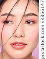 women beauty pink glossy look eyes wetlook 14 53866147
