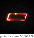 Neon light rectangle led or halogen lamp wall sign 53866176