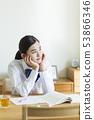 School girls learning 53866346