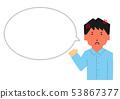 男,指導,憤怒,憤怒,生氣,氣球,語音氣球,大版(簡單觸摸) 53867377