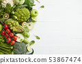 Healthy food dish on white background 53867474