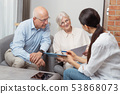 senior, couple, pension 53868073