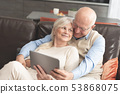 senior, tablet, couple 53868075