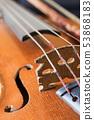 Used old violin closeup 53868183