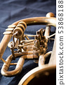 Used old trumpet, closeup 53868188