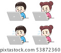 手提電腦和兒童 53872360