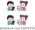 智能手機和平板電腦和兒童 53872416
