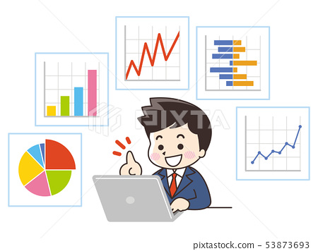 Graphs and businessmen 53873693