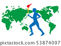 火炬手在世界各地举办国际体育大会 53874097