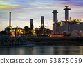 Sunset view of power plant 53875059