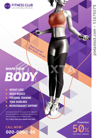 Fitness club poster 53876079