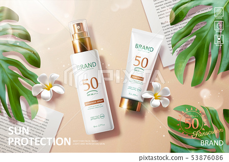 Sunscreen product ads 53876086