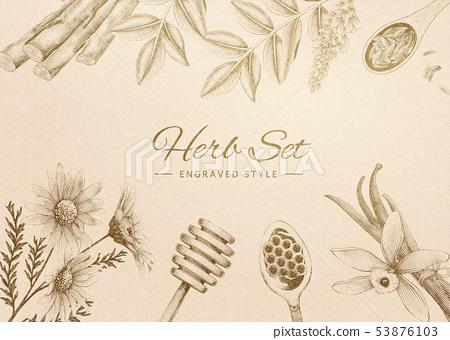 Engraved herbal set 53876103