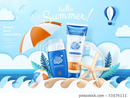 Summer ocean safe sunscreen 53876111