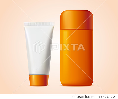 Blank cosmetic bottle 53876122