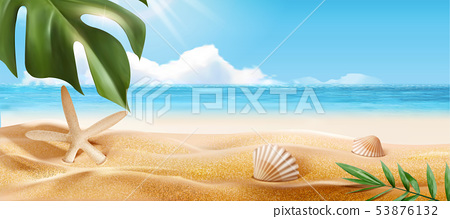 Beautiful summer beach 53876132