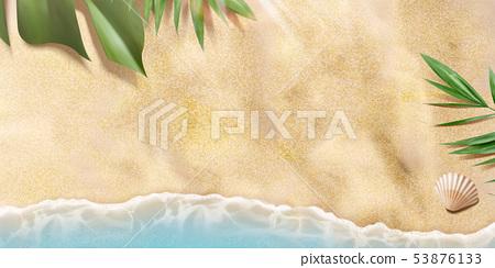 Top view summer beach 53876133