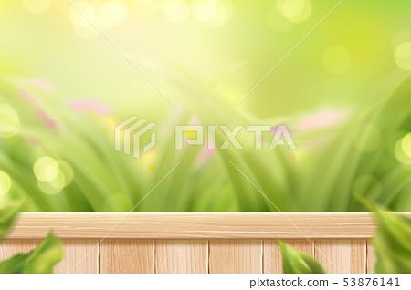 Bokeh glitter grass garden 53876141