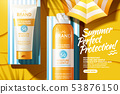 Sunscreen spray and tube ads 53876150