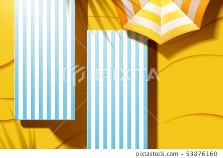 Beautiful summer beach lounger 53876160