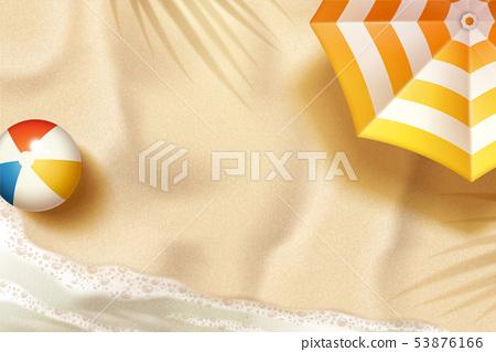 Beautiful summer beach 53876166