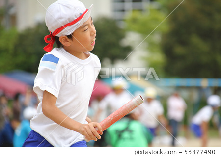 초등학교 운동회 (색상 별 대항 릴레이) 53877490