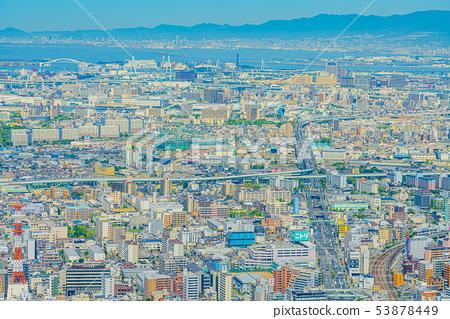 오사카 도시 경관 다이쇼 구 고노 하나 구 방면 53878449